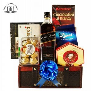 Black Johnnie Walker – Whiskey Gift Basket To Israel