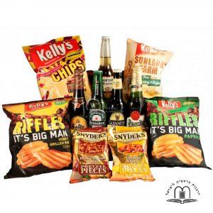 Beers and Snacks – Beer Gift Basket