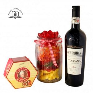 Candy Jar with Red Wine – Sweet Bouquet