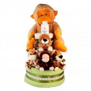 Zoo Diaper Nappy Cake XXL