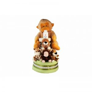 Zoo Diaper Nappy Cake XXL