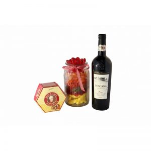 Candy Jar with red wine- Sweet Bouquet