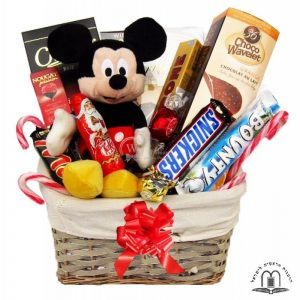Christmas Gift Basket With Mickey Mouse To Israel