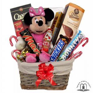 Christmas Gift Basket With Minnie Mouse To Israel