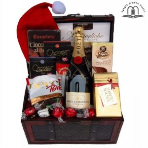 Christmas MOET Treasure Chest – Gift Basket Israel