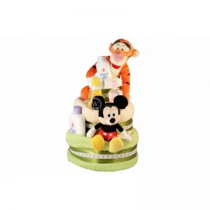 Tiger and Mickey – Diaper Nappy Cake Israel