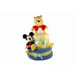 Winnie Pooh & Mickey Diaper Nappy Cake