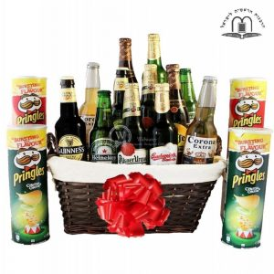 Give Him Beers – Pringles Beer Gift Basket Israel
