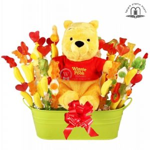 Sweet Winnie Pooh's Love – Candy Bouquet to Israel