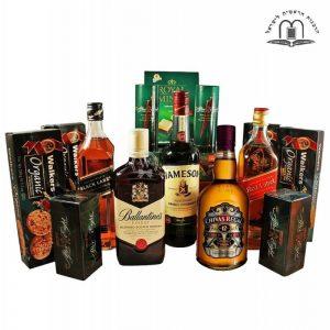Between Edinburgh to Dublin Deluxe Whiskey Gift Basket Israel