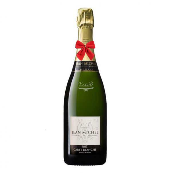 Send Jean Michel Champagne Carte Blanche Brut 750ml to Israel